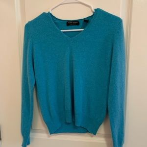 Teal Cashmere Valerie Stevens Sweater